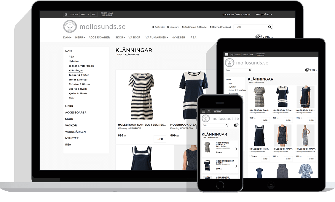 Mollosunds – E-handelsplattform och lösning från Starweb