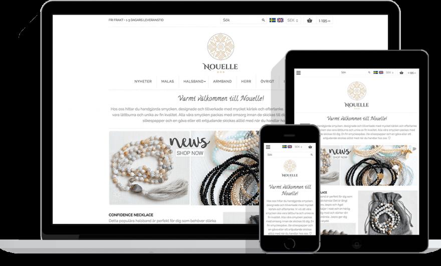 Nouelle - Exempel på 8h design