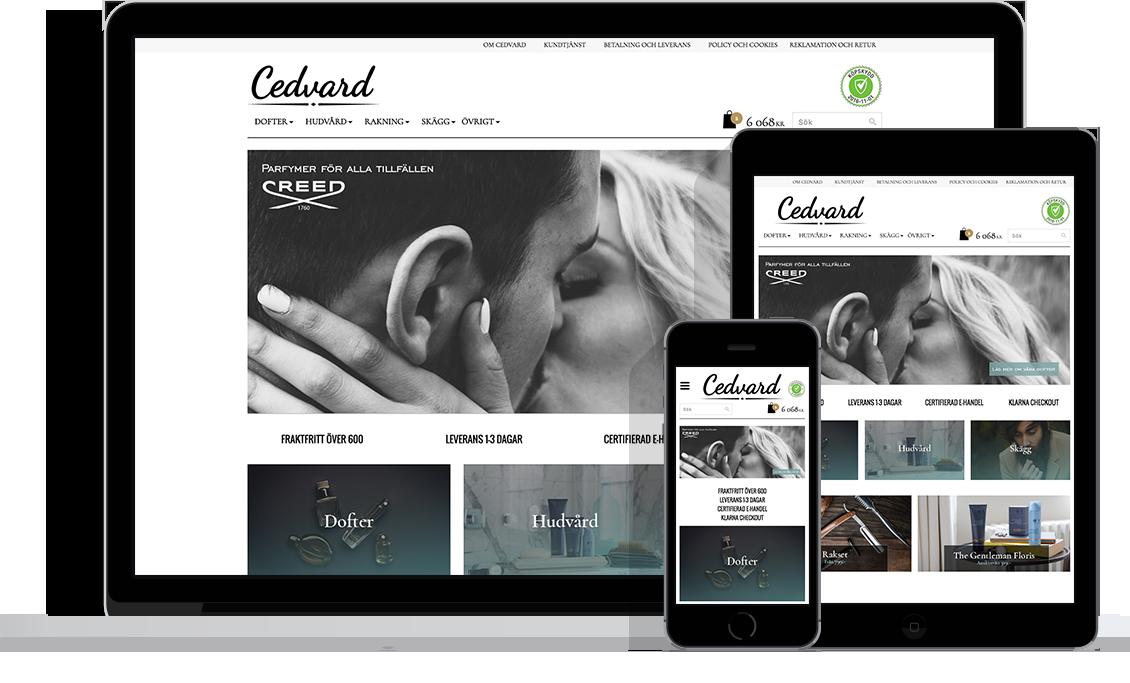 Cedward med Starweb e-handelsplattform