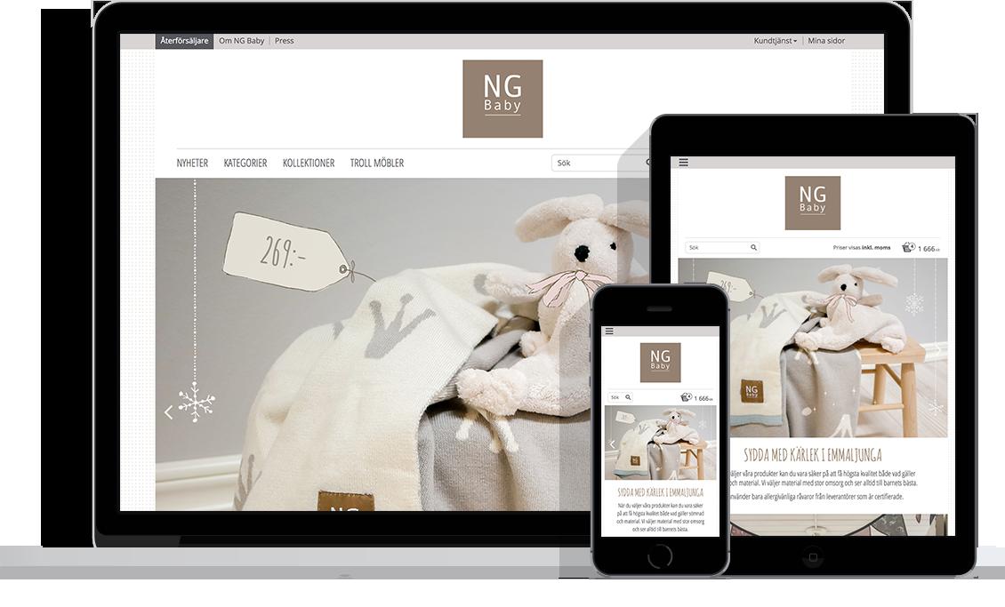 NG Baby med Starweb e-handelsplattform