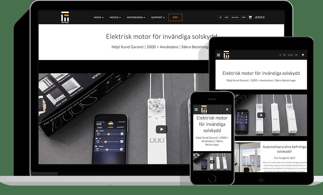 Teptron – E-handelsplattform och lösning från Starweb