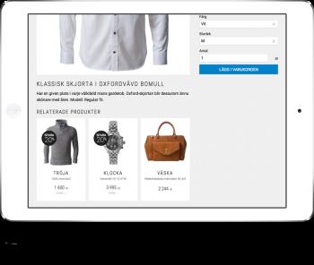 Tipsa om tjänster eller förbrukningsartiklar som relaterade produkter.