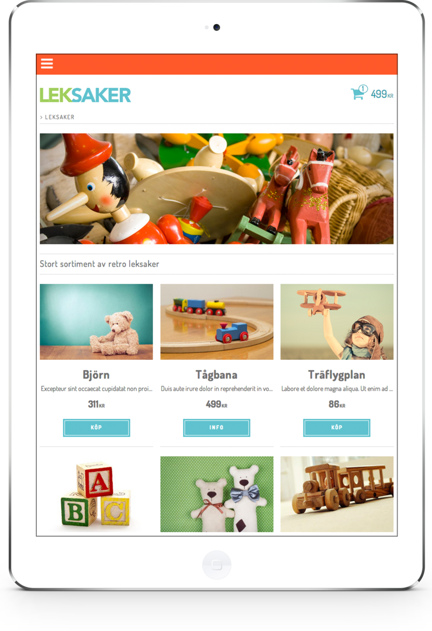 Responsiv skräddarsydd design i e-handel