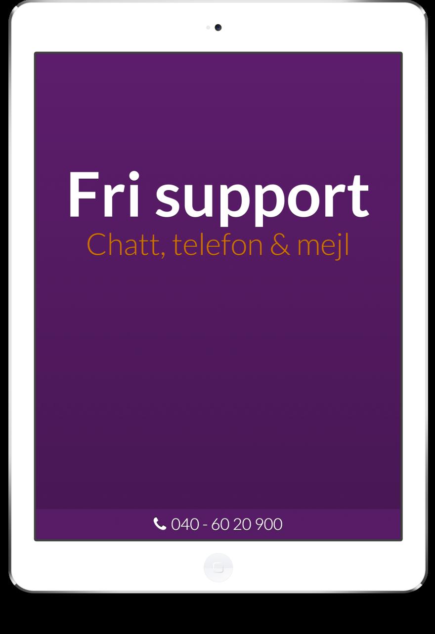 Fri support på telefon, chatt och mejl i webbutik