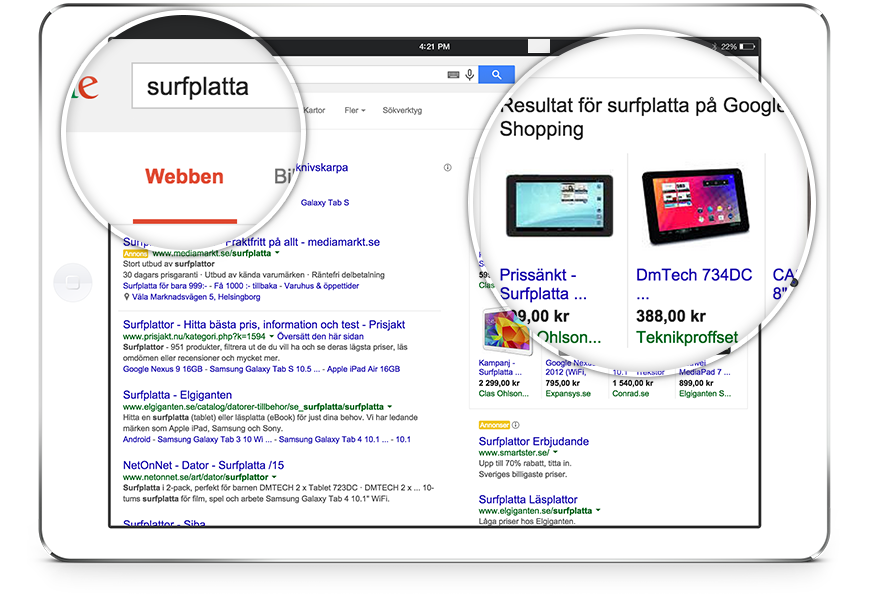 Google shopping i webbshop