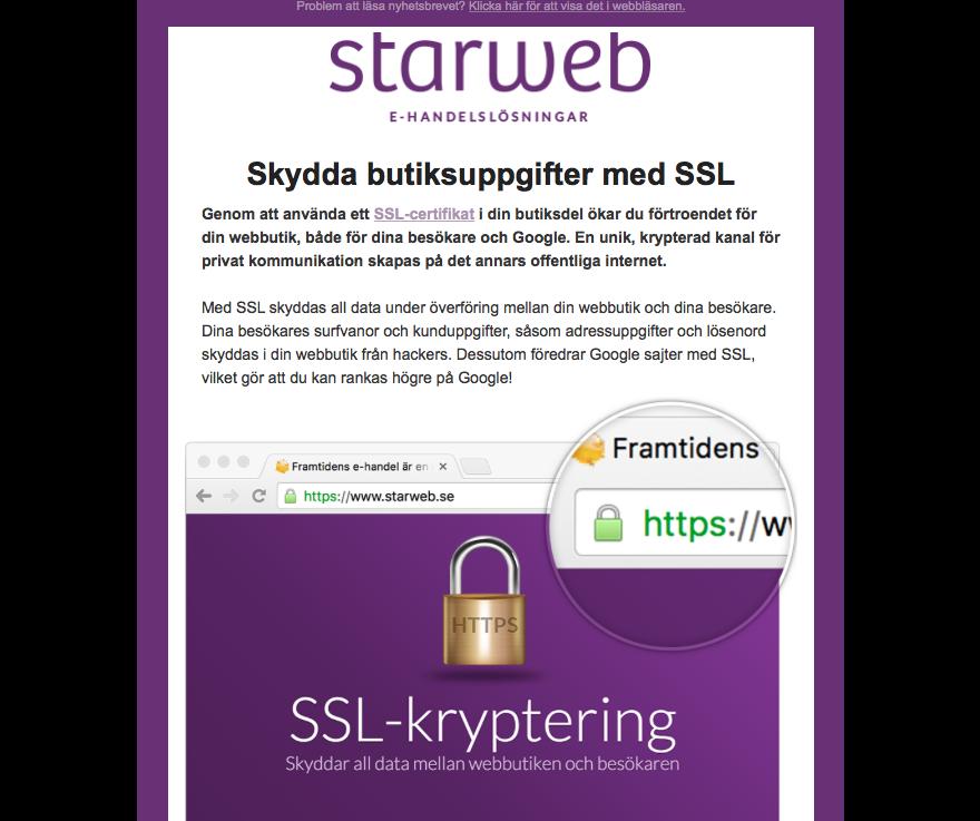 Starweb nyhetsbrev