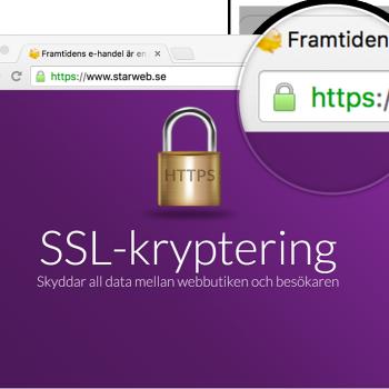 SSL-kryptering med https för ökat integritetsskydd