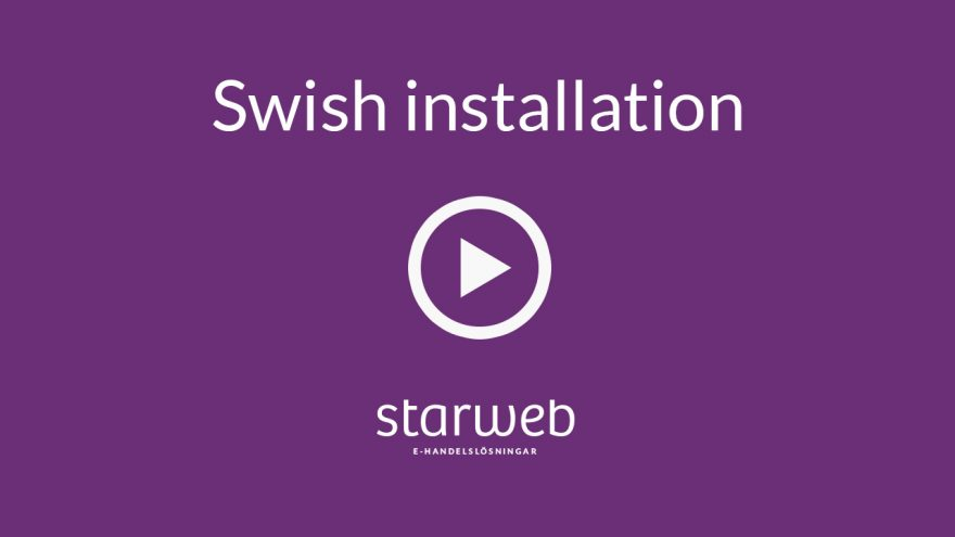 Swish hos Starweb