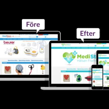 Designändringar ger fler frekventa besökare i webbutiken.