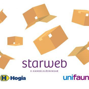 Starweb, Unifaun och Hogia