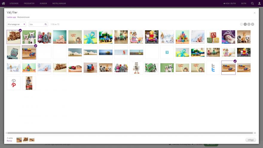 Admin - Välj upp till 10 bilder per produkt! Dra-och-släpp nya bilder och bestäm vilken som ska vara huvudbilden