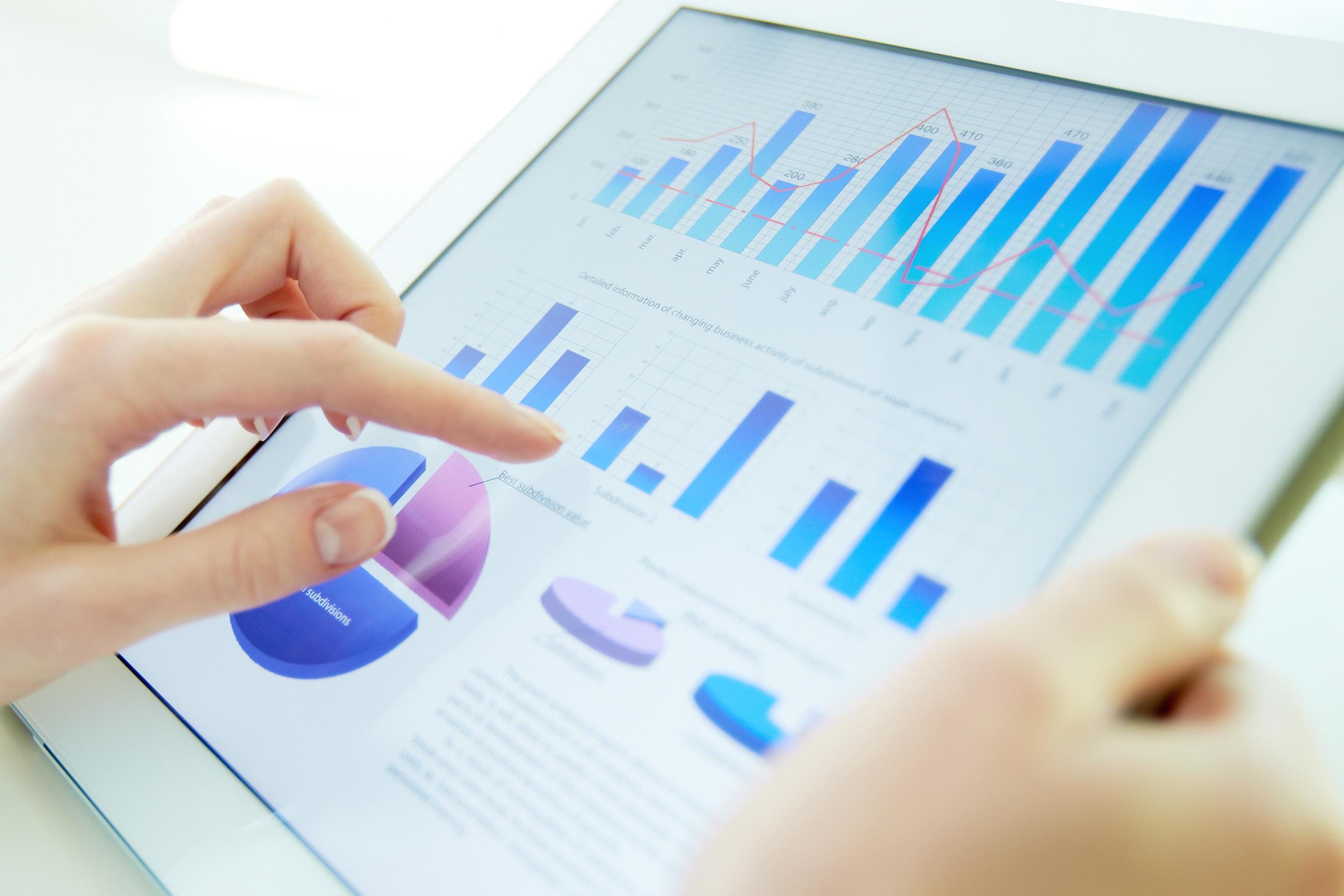 Tillväxt är avgörande, statistik i e-handelsplattform