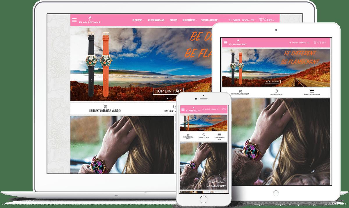 Flamboyant webbshop och e-handelsplattform