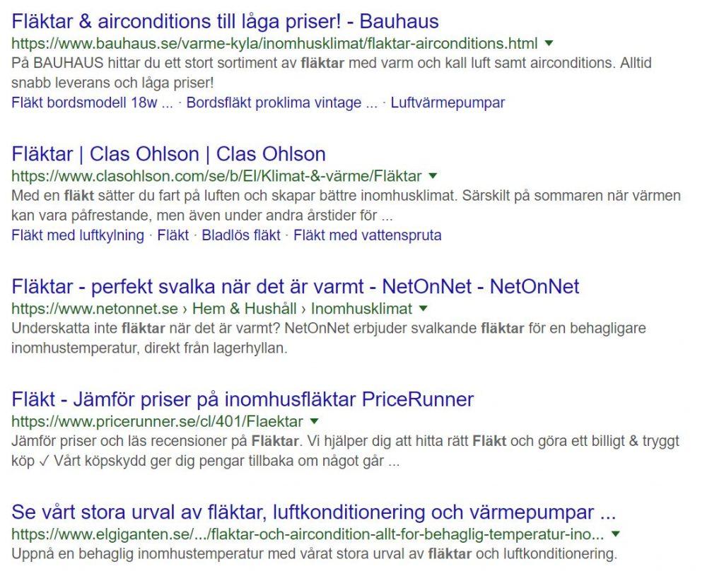 hur ser titlar ut på google