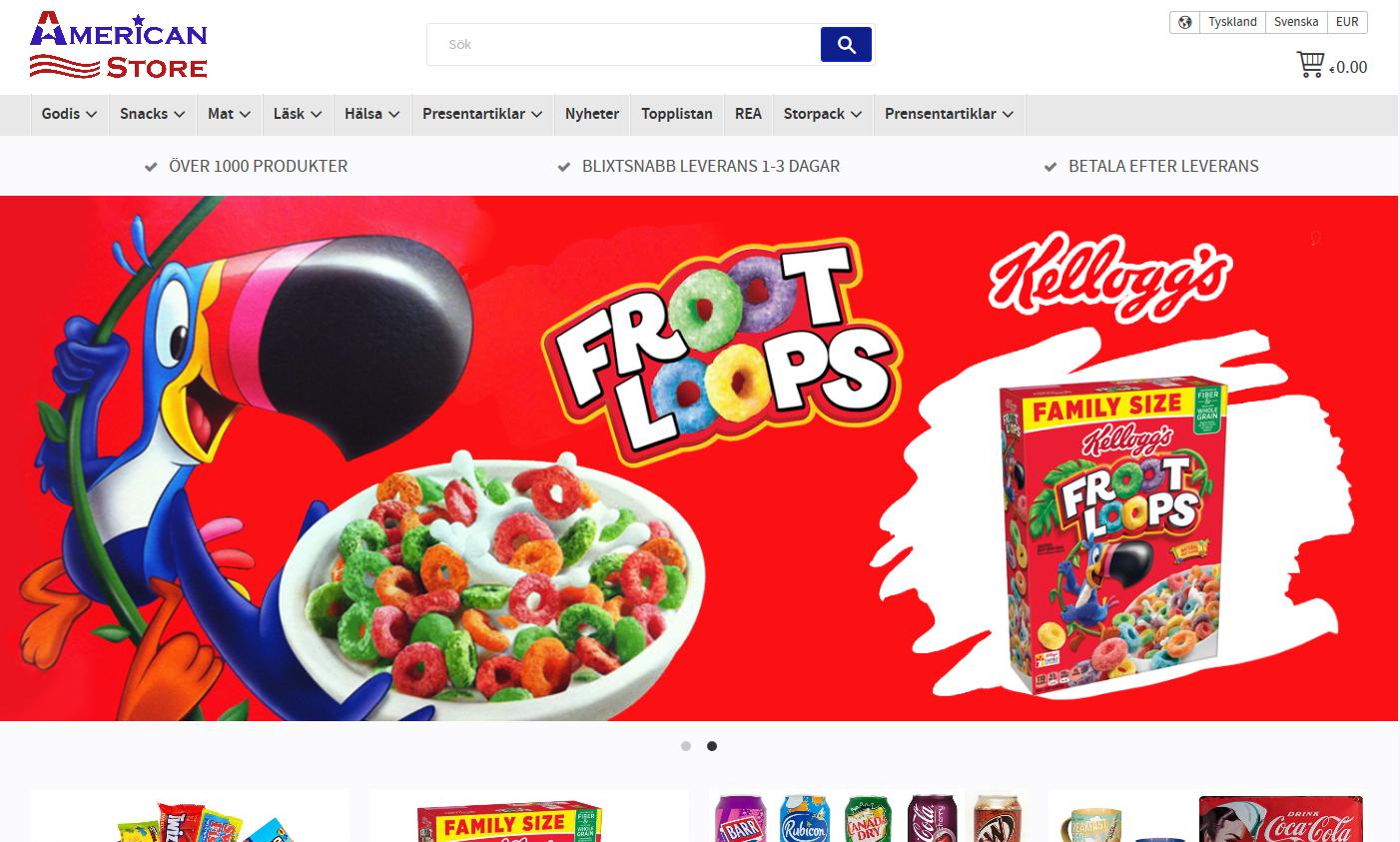 American store e-handel Starweb
