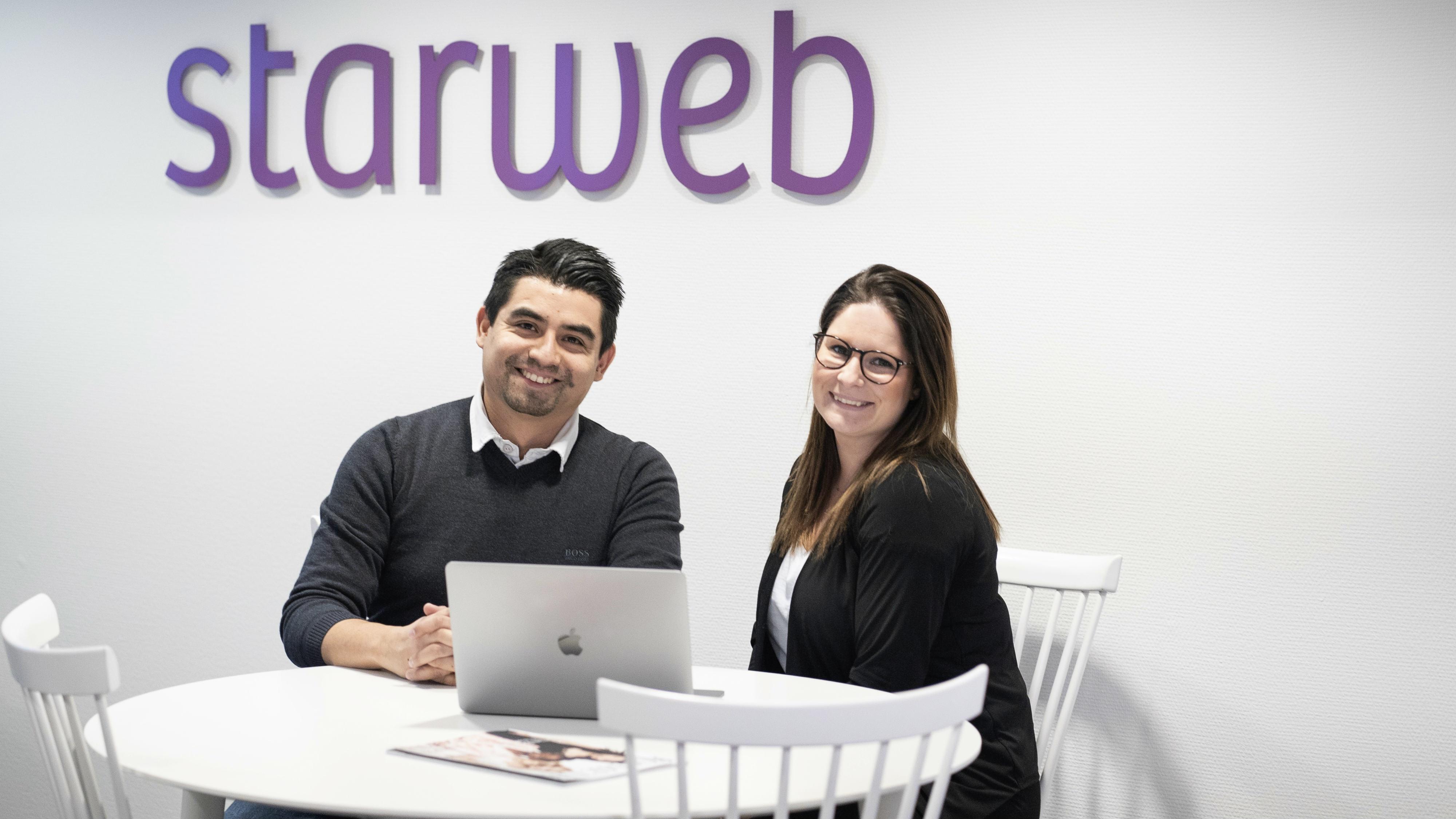 Gabriel och Patrycja är nyanställda på Starweb