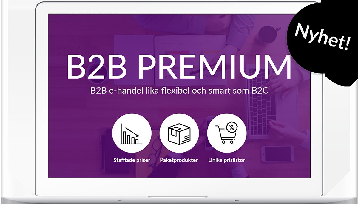 B2B PREMIUM - B2B e-handel lika flexibelt, snyggt och enkelt som B2C har varit länge!