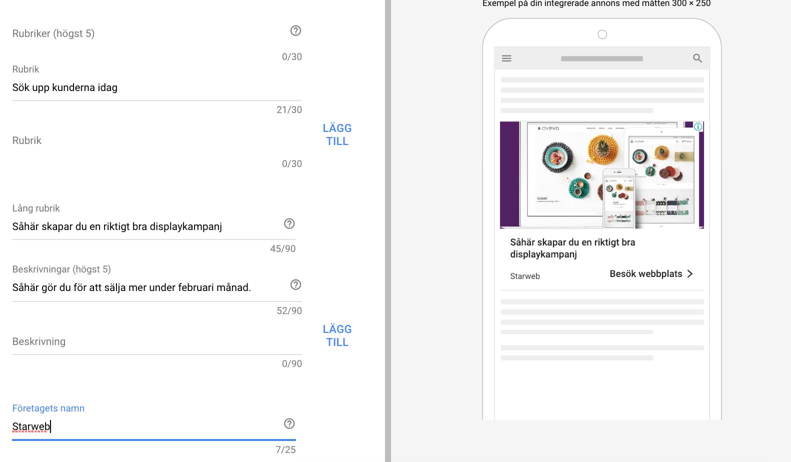 Google Ads displaycampaign